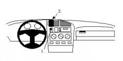Fixation voiture Proclip  Brodit Volkswagen Cabrio Réf 852016