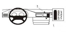 Fixation voiture Proclip  Brodit Mercedes Benz 124 (200-500E) Réf 852017