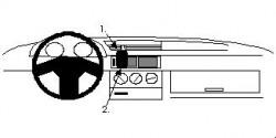 Fixation voiture Proclip  Brodit Alfa Romeo 155 Réf 852021