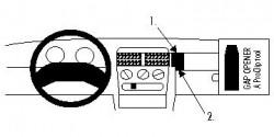 Fixation voiture Proclip  Brodit Opel Corsa Réf 852022