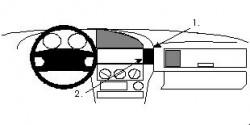 Fixation voiture Proclip  Brodit BMW 316-328 E36 Réf 852023