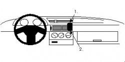 Fixation voiture Proclip  Brodit Alfa Romeo 155 Réf 852024
