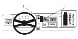 Fixation voiture Proclip  Brodit Chevrolet Blazer S10 Réf 852028