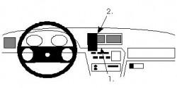 Fixation voiture Proclip  Brodit Opel Calibra Réf 852032