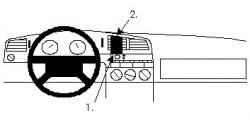 Fixation voiture Proclip  Brodit Volkswagen Passat Réf 852034