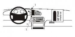 Fixation voiture Proclip  Brodit Hyundai Sonata Réf 852036