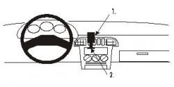 Fixation voiture Proclip  Brodit Nissan Micra Réf 852038