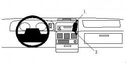 Fixation voiture Proclip  Brodit Chrysler Voyager Réf 852041