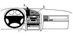 Fixation voiture Proclip  Brodit BMW 316-328 E36 Réf 852043