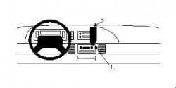 Fixation voiture Proclip  Brodit Chevrolet Caprice Classic Réf 852047