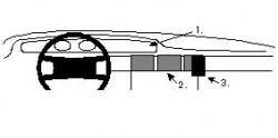 Fixation voiture Proclip  Brodit Audi V8 Réf 852050