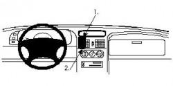 Fixation voiture Proclip  Brodit Renault Laguna Réf 852051