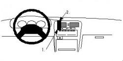 Fixation voiture Proclip  Brodit Nissan King Cab Réf 852052