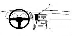 Fixation voiture Proclip  Brodit Nissan 300 ZX Réf 852053