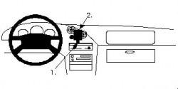 Fixation voiture Proclip  Brodit Mazda MX-3 Réf 852062