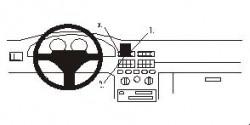 Fixation voiture Proclip  Brodit Fiat Punto Réf 852063