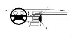 Fixation voiture Proclip  Brodit Volkswagen Cabrio Réf 852068
