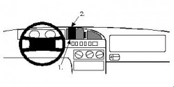 Fixation voiture Proclip  Brodit Citroen XM Réf 852070
