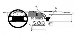 Fixation voiture Proclip  Brodit Citroen XM  Pas la double airbag. Réf 852071