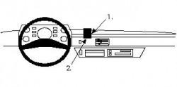 Fixation voiture Proclip  Brodit Mercedes Benz 207-410 Réf 852074