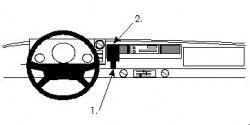 Fixation voiture Proclip  Brodit Mercedes Benz 100 Van Réf 852075