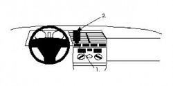 Fixation voiture Proclip  Brodit Alfa Romeo 164 Réf 852076