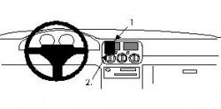 Fixation voiture Proclip  Brodit Subaru Impreza Réf 852078