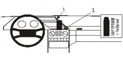 Fixation voiture Proclip  Brodit Peugeot 605 Réf 852079