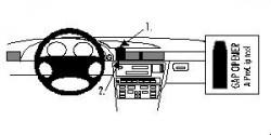 Fixation voiture Proclip  Brodit BMW 728-750 E38 Réf 852083