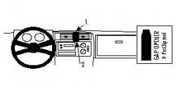Fixation voiture Proclip  Brodit Chevrolet Blazer S10 Réf 852084