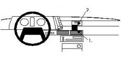 Fixation voiture Proclip  Brodit Subaru Leone Réf 852085