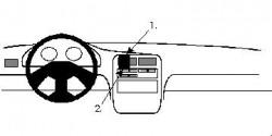 Fixation voiture Proclip  Brodit Daihatsu Charade Réf 852086