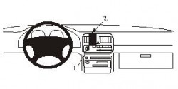 Fixation voiture Proclip  Brodit Subaru Legacy Réf 852087