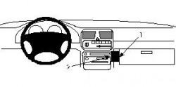 Fixation voiture Proclip  Brodit Subaru Legacy Réf 852088