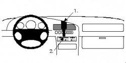 Fixation voiture Proclip  Brodit Mazda 323  UNIQUEMENT pour Sedan. Réf 852090