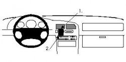Fixation voiture Proclip  Brodit Mazda 323  UNIQUEMENT pour Coupé. Réf 852091
