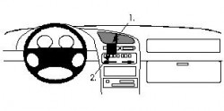 Fixation voiture Proclip  Brodit Mazda 323 F Réf 852092