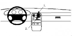 Fixation voiture Proclip  Brodit Mazda Miata Réf 852093