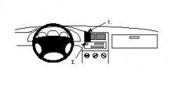 Fixation voiture Proclip  Brodit Seat Toledo Réf 852097