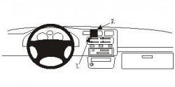 Fixation voiture Proclip  Brodit Toyota RAV 4 Réf 852098