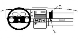 Fixation voiture Proclip  Brodit Opel Monterey Réf 852103