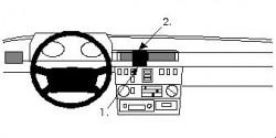 Fixation voiture Proclip  Brodit Mercedes Benz Gelendewagen Réf 852104
