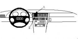 Fixation voiture Proclip  Brodit Audi A8 Réf 852106