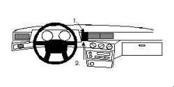 Fixation voiture Proclip  Brodit Volvo 740 Réf 852110