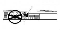Fixation voiture Proclip  Brodit Chevrolet Pickup Réf 852115