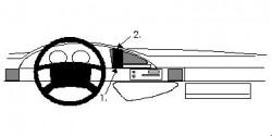 Fixation voiture Proclip  Brodit Citroen Evasion Réf 852118