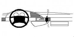 Fixation voiture Proclip  Brodit Citroen Evasion Réf 852119