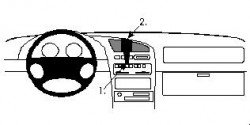 Fixation voiture Proclip  Brodit Mazda 323 F Réf 852120