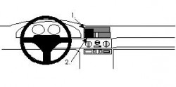Fixation voiture Proclip  Brodit Alfa Romeo 145 Réf 852121