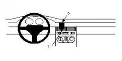 Fixation voiture Proclip  Brodit Fiat Coupe Réf 852122